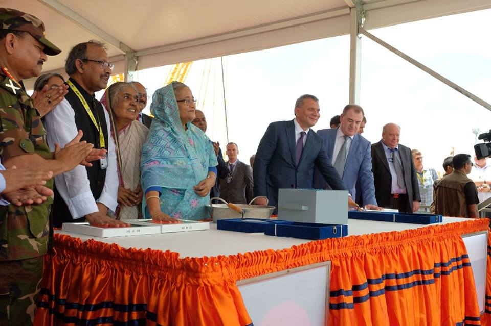 Main construction of the 2nd  Unit of Rooppur Nuclear Power Project begins with the ' First Concrete' ceremony